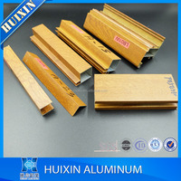 powder coating/ mill finish/ anodized aluminum kitchen cabinet profile extrusion