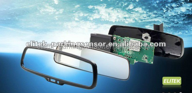 Super higher brightness rearview auto dimming mirror+backup camera+parking sensor system