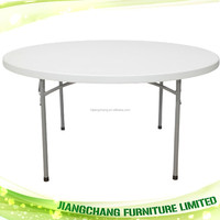 Round Plastic Folding Table For Sale