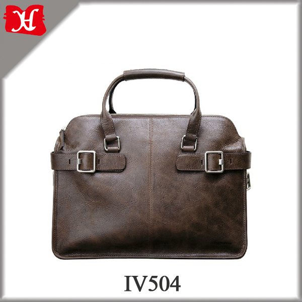 Men Genuine Leather 13 inch Laptop Briefcase Bag