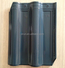 Wuxi blue glazed ceramic roof tile price, glazed clay roofing materials
