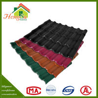 Perfect self-cleaning performance synthetic resin antique chinese roof tiles