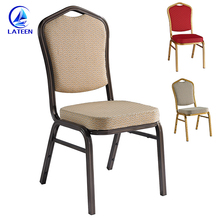 Factory direct sale hotel stacking chair best quality aluminum metal banquet hall wedding chair