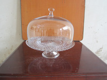 Clear Glass Cake Stands for Home Decoration