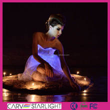hot sale fibre optic lighting vestidos de fiesta exotic prom dresses