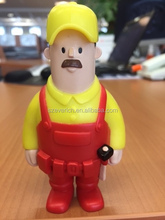 customized soft cartoon electrical worker vinyl figure toy