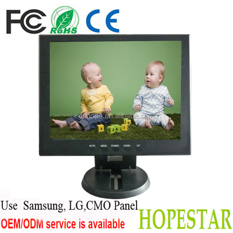 high resolution(1024x768)low resolution(800x600) new design best quality posystem Samsung panel 12 inch led lcd monitor