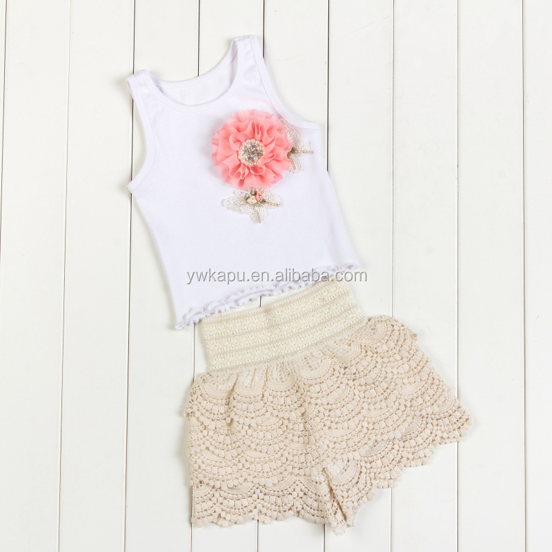 Wholesale baby clothing, baby cotton lace bodysuit, kids clothes in stock