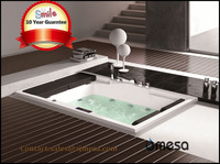 hot sale big size rectangular drop in jet whirlpool bathtub with massage function