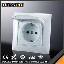 High Quality PC Panel european universal wall socket,uk socket,waterproof socket