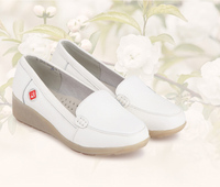 2013 Popular Nurse Shoes Genuine Leather White