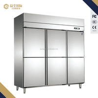D2.0L6 commercial big luxury 6 door halal deer meat multifuction freezer chiller