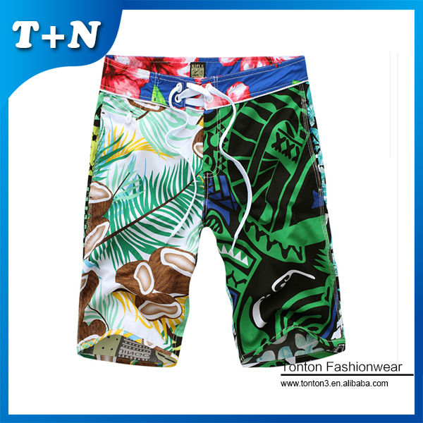 sublimation printed teen boy men sexy beach volleyball shorts