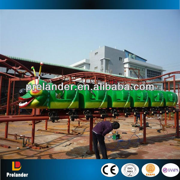 Amusement park roller coaster, electric big worm train rides roller coaster, mini roller coaster for sale