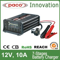 Silver beauty battery charger 12V 10A ,7 stage automatic charging battery charger with CE,CB,RoHS certificate
