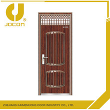 Modern vented exterior safety door design with grill
