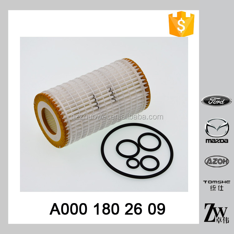 Used for Germany car model auto engine parts white paper oil filter element A000 180 26 09