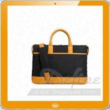 Premium Leather Tote Laptop Sleeve with Shoulder Strap