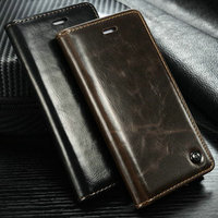 Caseme Wallet Leather Cover For i Phone 6, For iPhone 6 Cover with Free Screen protector and Touch pen in Each Case Package