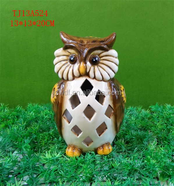 Manufactory led solar light lawn ornament, owl dolomite ornament, garden decoration