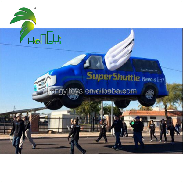 Customize Inflatable Car Flying Balloon , Giant Inflatable Floating Car For Advertising
