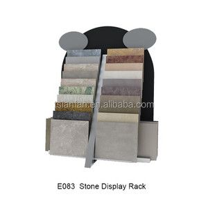E083 tower retail display racks for tiles/stone slab display racks stands