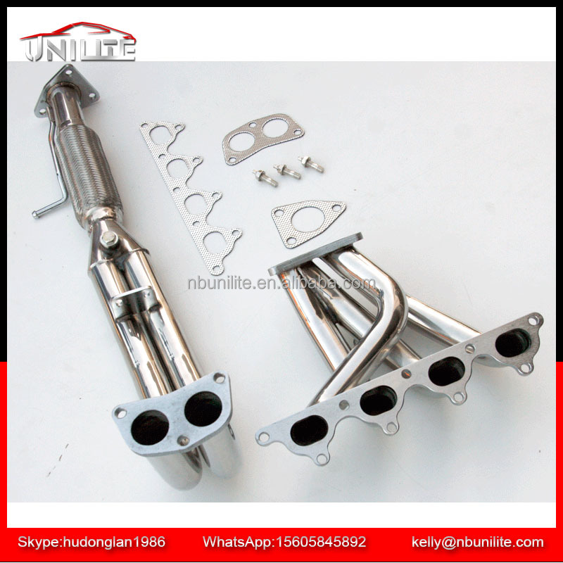 STAINLESS STEEL 4-1 HEADER EXHAUST/MANIFOLD FOR 90-93 HONDA ACCORD 2.2 F22 CB