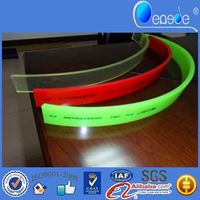bend resistant squeegee applicator for glass industry