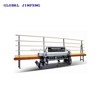 10 Spindles PLC glass grinding and beveling machine for 25x25mm glass and mirror polishing