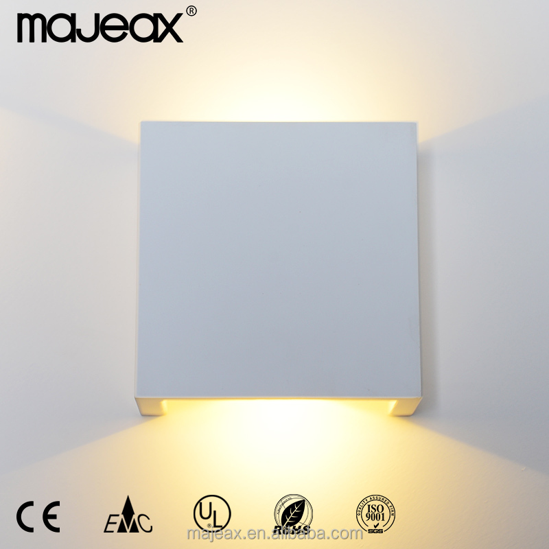 indoor gypsum plaster modern decorative up and down led wall lamp light for room