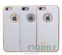 For iphone 5G 5S value added original phone cover finished faux leather white diamond exclusive mobile case wholesale