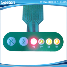 Custom Two Buttons LED PET Film Membrane Switch Keypad