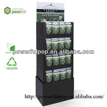 Retail high quality tea corrguated cardboard case stacker display stands
