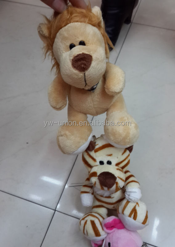 hot sale mini lion and leopard animal plush toys