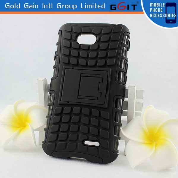 Heavy Duty Case For LG L70 D320N Strong Durable Hard TPU Cover Stand