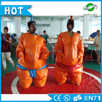 2016 High quality! kids and adults inflatable sumo wrestling suits, inflatable fighting sumo, sumo sets