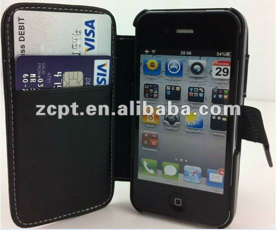 Stand PU Leather Phone Pouch