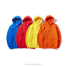 Polycotton fleece long sleeve with pockets hip hop pullover sweatshirts yellow mens hoodies