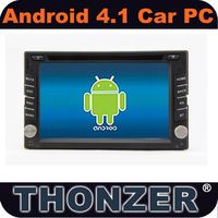 Newest !!! Double din universal Car DVD Player with Pure Android 4.1.1