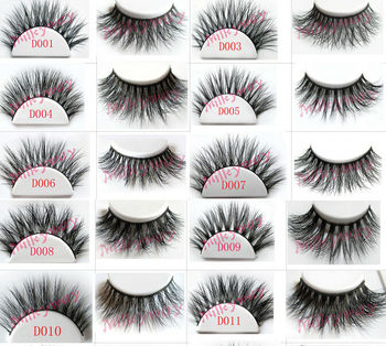 Milkyway 3D mink lashes 100% real siberian mink fur tip fluffy false eyelashes thick crossing double layered strip lashes