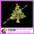 2018 hot sale Europe Christmas gifts wholesale Christmas tree brooch
