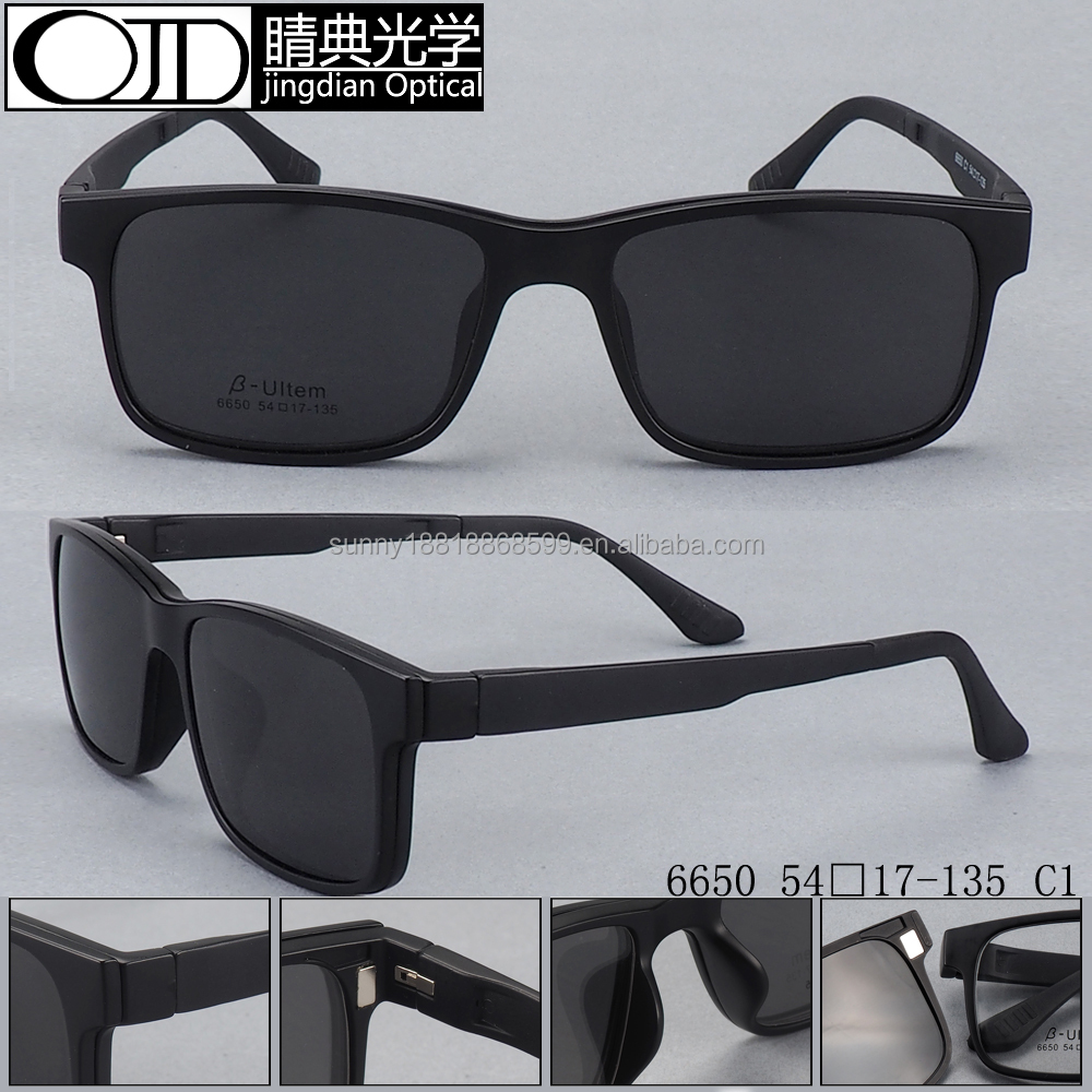 magnetic sunglasses polarized clip on sunglasses tr90 sunglasses 6650