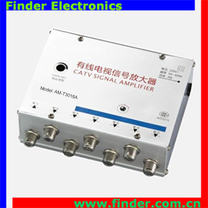 Best price 6 ways CATV signal Amplifier Splitter 1 Input 6 Output TV signal Amplifier with 30dB gain adjustment