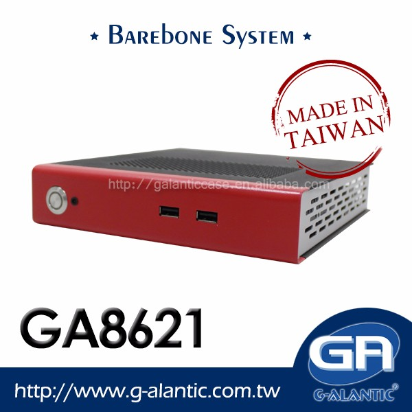 GA8621 - Thin Mini ITX barebone system with CPU braswell 3150 for Digital Signage