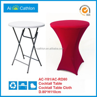 plastic round folding table,foldable high top bar cocktail tables for wedding/hotel/party