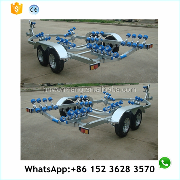 two/double axle aluminum boat trailer with brake