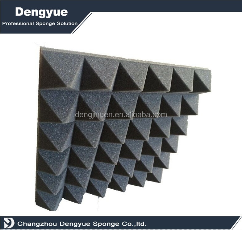 Hot selling self-adhesive recording room polyurethane pyramid self adhesive sound insulation foam