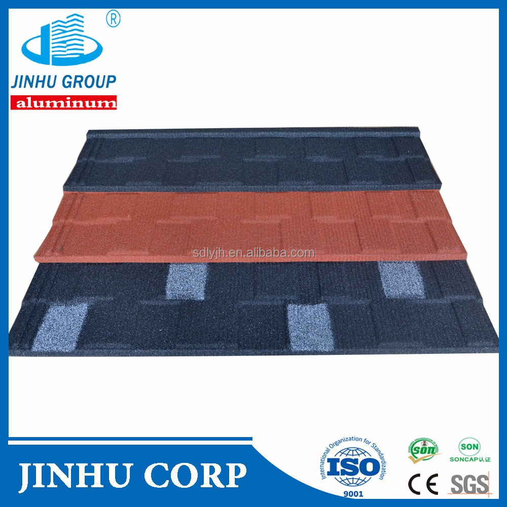 JINHU Cheap stone coated shingles steel roof tiles malaysia manufacturer