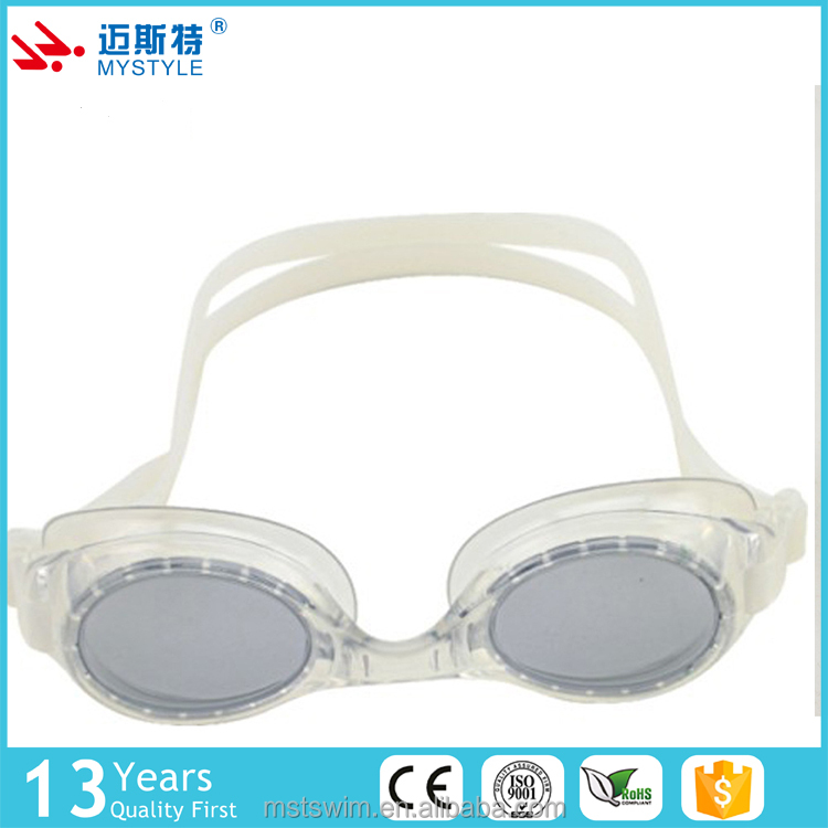 The newest hot sales swim goggles with nose clip plastic case