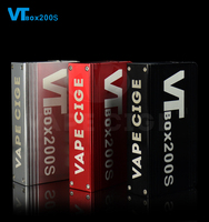China manufacturer mini ecig mod vv/vw dna box 200 mod vt200s vapecige battery built-in vape mod